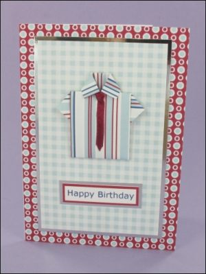 Origami Shirt & Ribbon Tie card