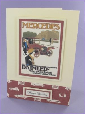 Mercedes Daimler Birthday card