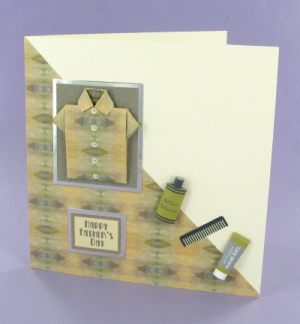 Green Square Origami Shirt card