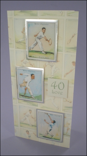 Tennis Players Cigarette Cards card