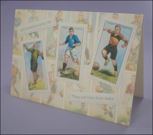 Footballer Cigarette Cards card