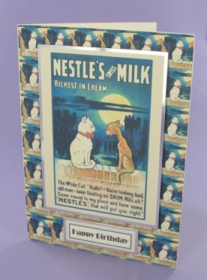Nestles Milk Cat card