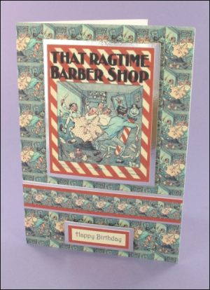 That Ragtime Barbers Shop card