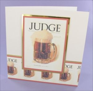 Judge Beer card