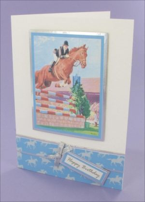 Showjumping Birthday card