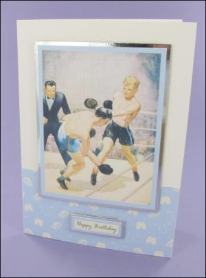 Boxing Birthday card