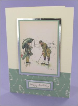 Vintage Golfers card