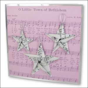 Music Origami Stars card