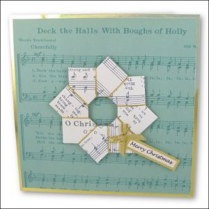 Music Origami Wreath card