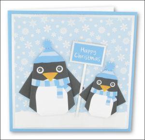 Origami Christmas Penguins
