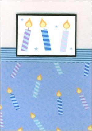 Candle motif card