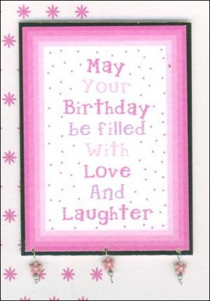 Love and laughter card