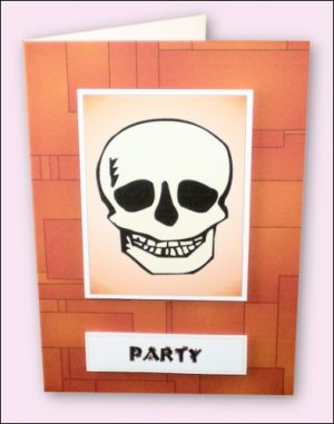 Halloween Skull Party Invitation