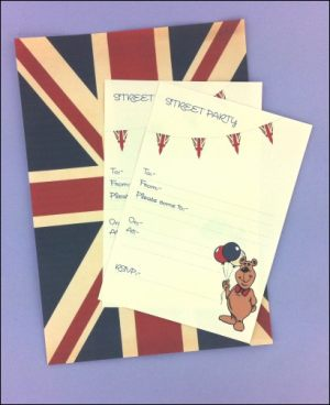 Vintage Street Party A4 Flag & Invitations