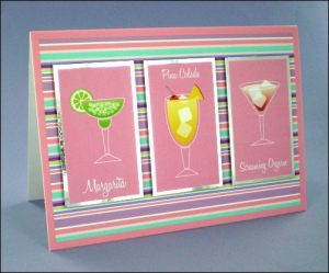 3 Girlie Cocktails Card