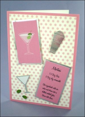 Martini Cocktail Card