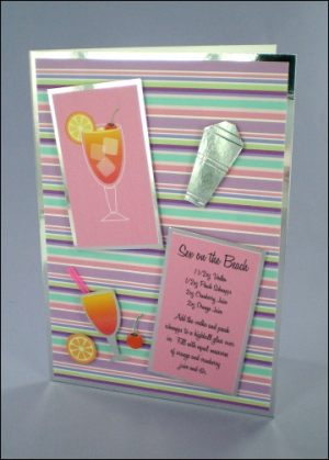 Sex on the Beach Cocktail Card