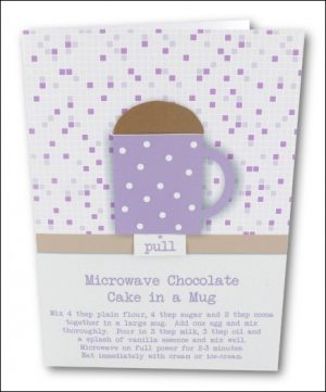 Simple Chocolate Cake in a Mug, Lilac