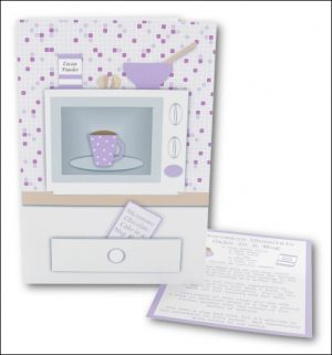 Microwave Cake in a Mug Card, Lilac