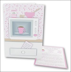 Microwave Cake in a Mug Card, Pink