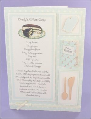 Emily's White Cake Recipe card