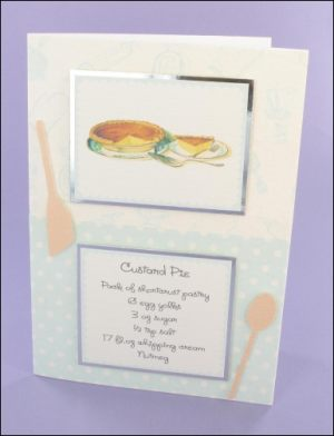Custard Pie Recipe card