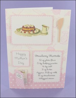 Strawberry Shortcake Mother's Day card