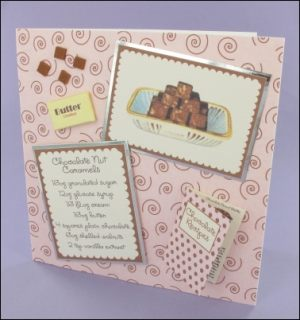 Chocolate Nut Caramels card