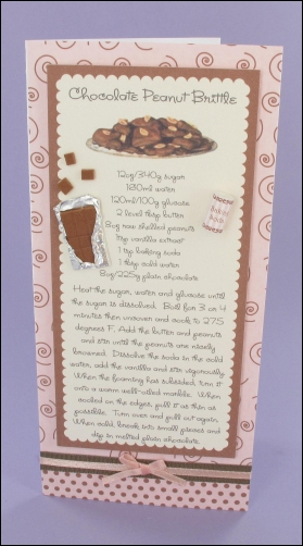 Chocolate Peanut Brittle card