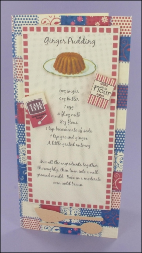 Ginger Pudding Recipe card