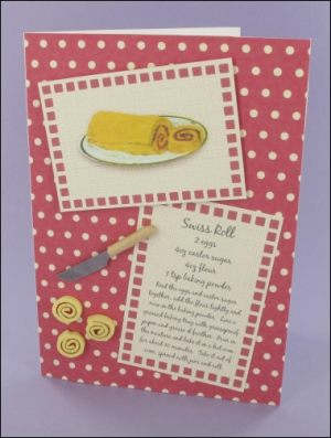 Swiss Roll Recipe card