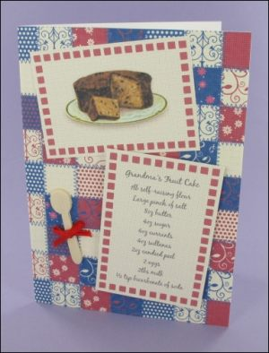 Grandma's Fruit Cake Recipe card