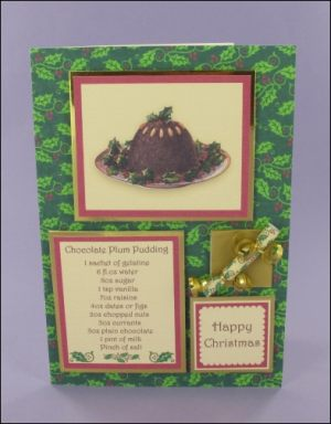 Chocolate Plum Pudding card