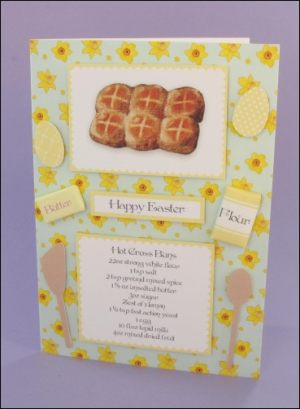 Easter Hot Cross Buns card