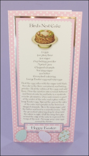 Birds Nest Cake card
