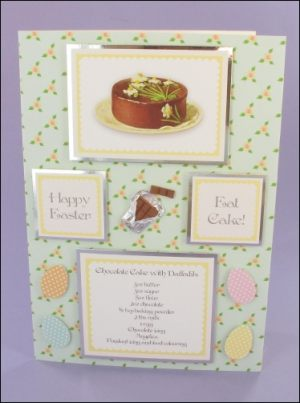 Easter Daffodil Cake card