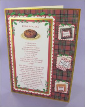 Christmas Dundee Cake Recipe Card