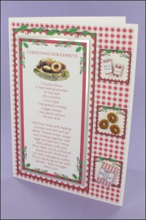 Christmas Doughnuts Recipe Card