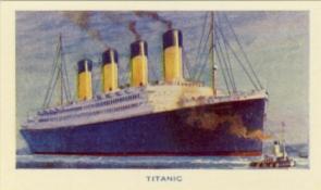 Titanic cigarette card