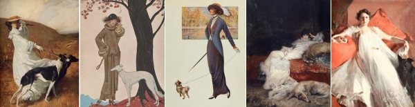 Ladies with their dogs